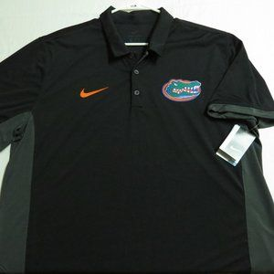 New 2XL Black/Gray Nike Men db Poly #66M Golf Polo